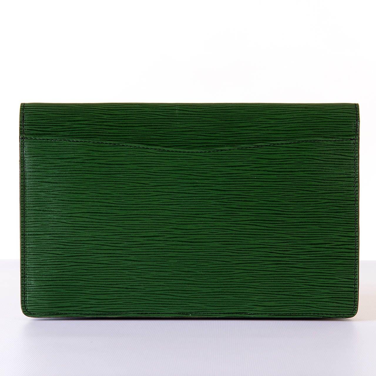 Louis Vuitton 'Menthe' Epi-Leather Clutch Bag 3