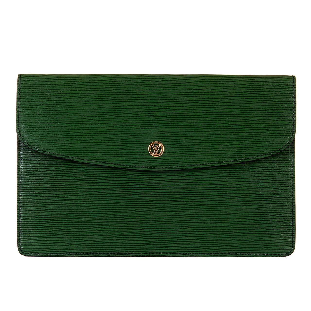 Louis Vuitton 'Menthe' Epi-Leather Clutch Bag 1