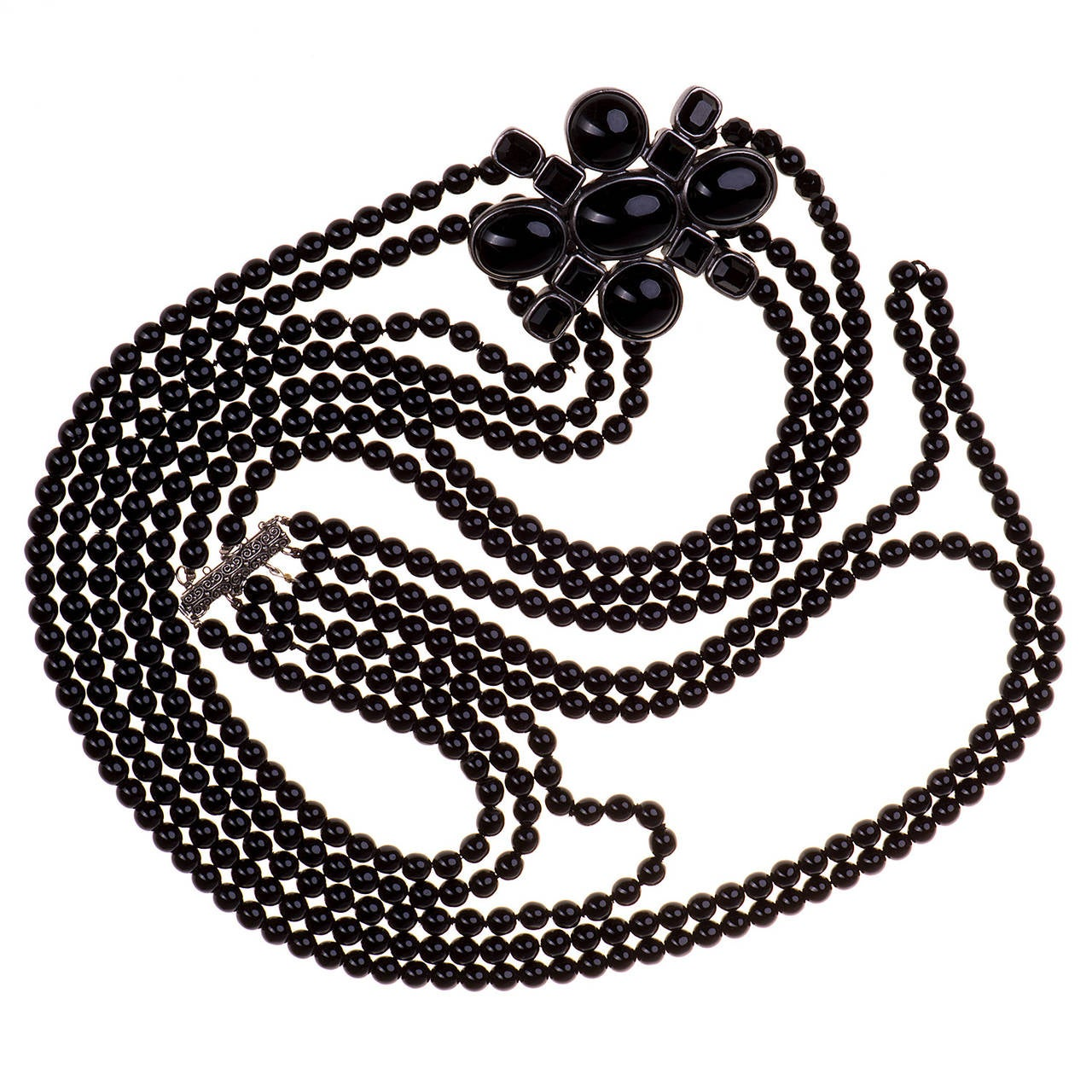 Très Chic Chanel 'Pate de Verre' 5-Strand Sautoir necklace 3