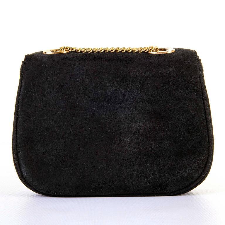 WOW Celine of Paris Black Suede Shoulder or Clutch Bag 3