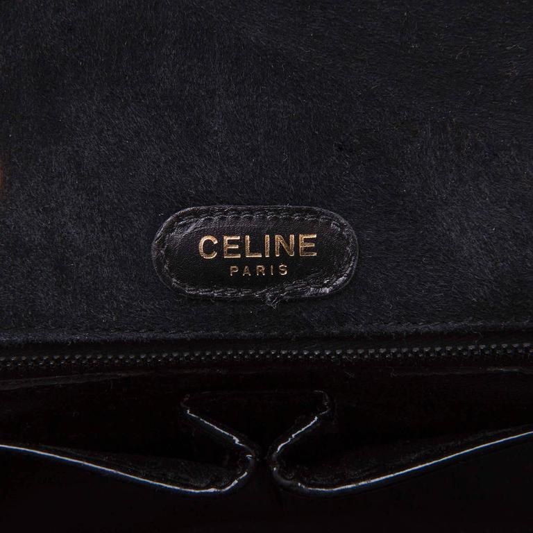 WOW Celine of Paris Black Suede Shoulder or Clutch Bag 5