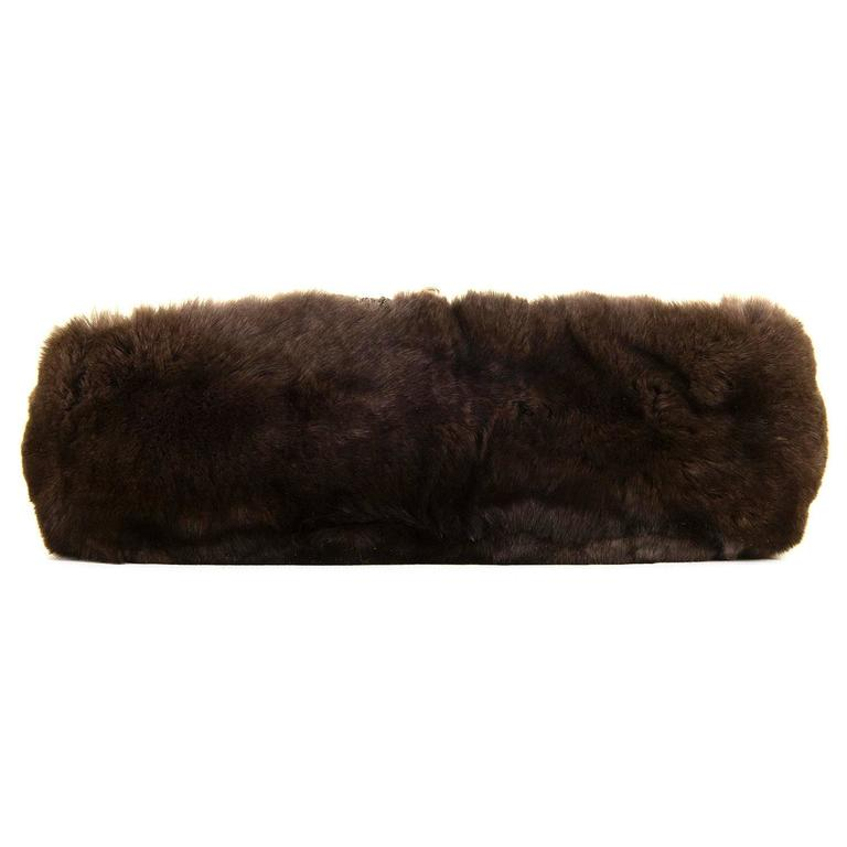 WOW! Chanel Limited Edition 28cm Fur & Tweed 'Sac Classique'  by Karl Lagerfeld 5