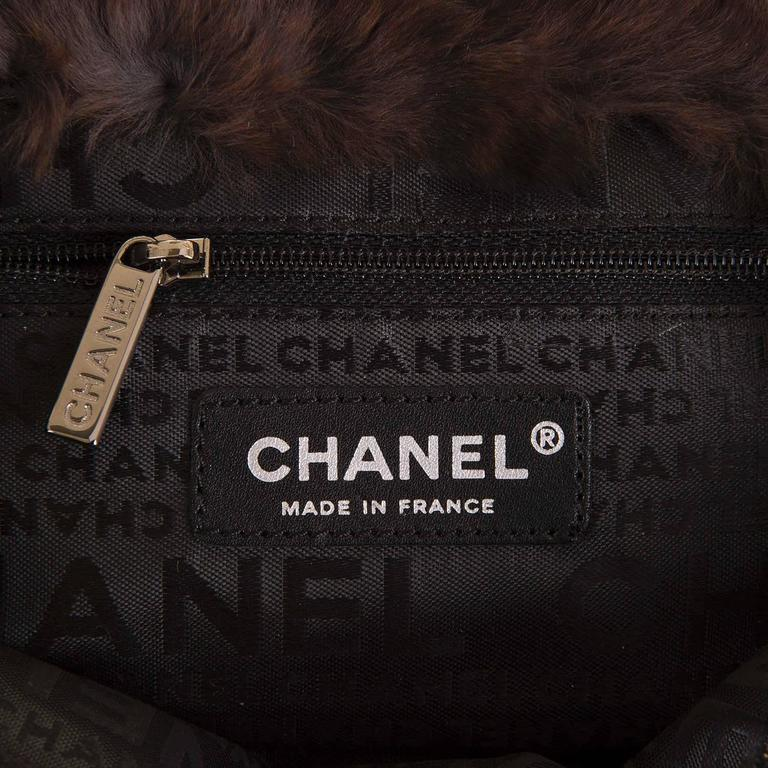 WOW! Chanel Limited Edition 28cm Fur & Tweed 'Sac Classique'  by Karl Lagerfeld 6