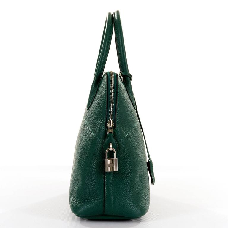 WOW! As New Hermes 31cm Rare 'Malachite Green' Togo Leather Bolide Bag with SHW 4