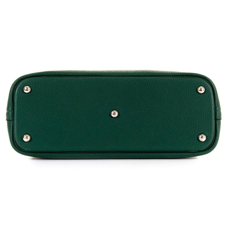 WOW! As New Hermes 31cm Rare 'Malachite Green' Togo Leather Bolide Bag with SHW 5