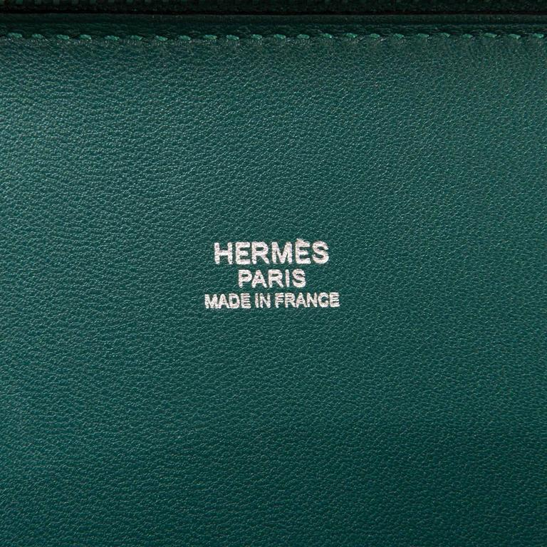 WOW! As New Hermes 31cm Rare 'Malachite Green' Togo Leather Bolide Bag with SHW 6