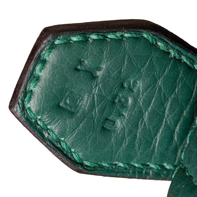 WOW! As New Hermes 31cm Rare 'Malachite Green' Togo Leather Bolide Bag with SHW 8