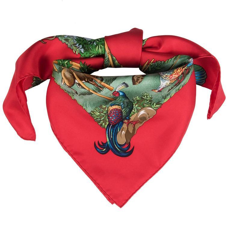 PRISTINE Vintage Hermes Silk Scarf 'Sichuan' by Robert Dallet 2