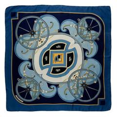 Gorgeous Hermes Silk Scarf, 'George Washington's Carriage' by Caty Latham