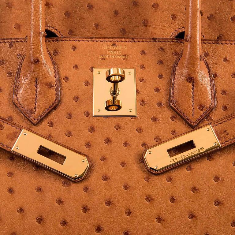 RARE Hermes 'Saffron' Ostrich HAC Birkin - 32cm GHW in Pristine  Condition 6