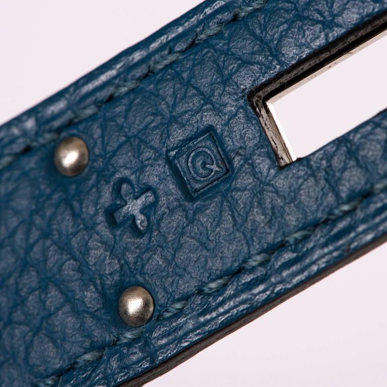 As New Hermes 40cm Cobalt Blue Togo leather Birkin with Palladium Hardware  7