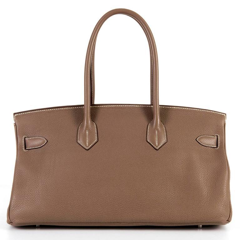 WOW Hermes 42cm JPG Birkin Bag in Etoupe Togo with Palladium Hardware 2