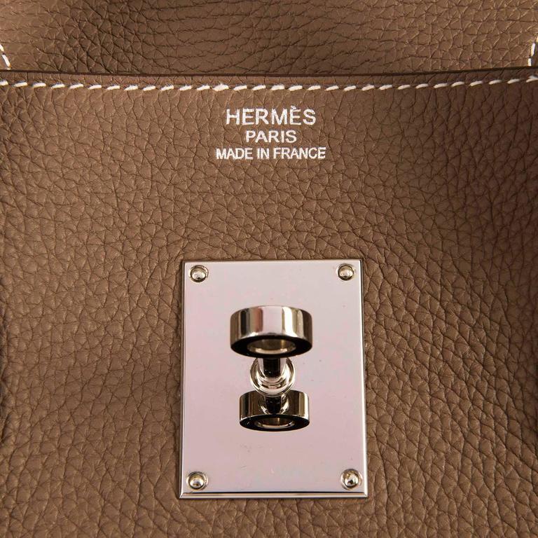 WOW Hermes 42cm JPG Birkin Bag in Etoupe Togo with Palladium Hardware 4