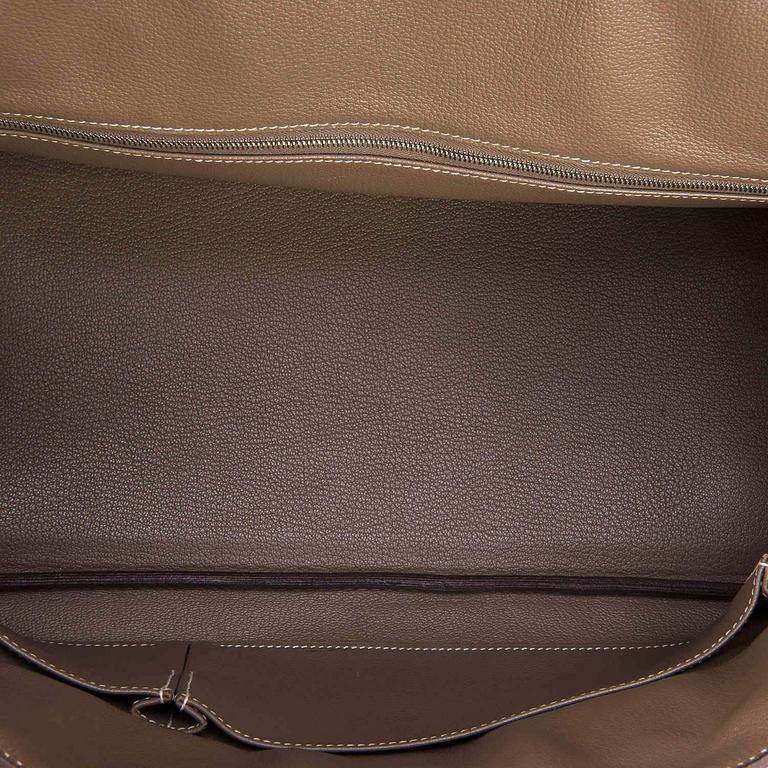 WOW Hermes 42cm JPG Birkin Bag in Etoupe Togo with Palladium Hardware 5