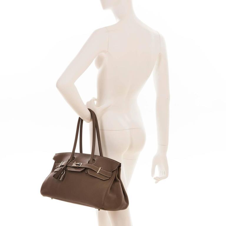 WOW Hermes 42cm JPG Birkin Bag in Etoupe Togo with Palladium Hardware 7