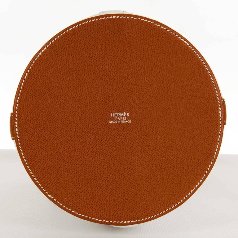 Rare Limited Edition Hermes White 'Farming' Bag White Epsom & Barenia Leathers 4