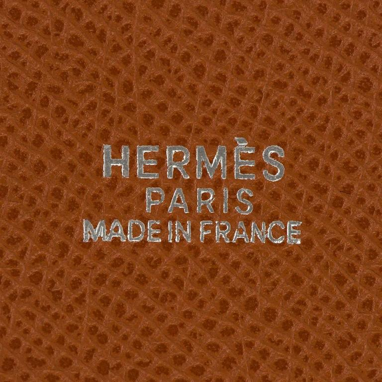 Rare Limited Edition Hermes White 'Farming' Bag White Epsom & Barenia Leathers 6