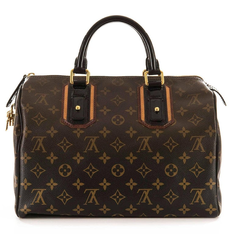 WOW Rare Limited Edition Louis Vuitton 'Sac Mirage' Speedy 30 Logo Handbag GHW 2