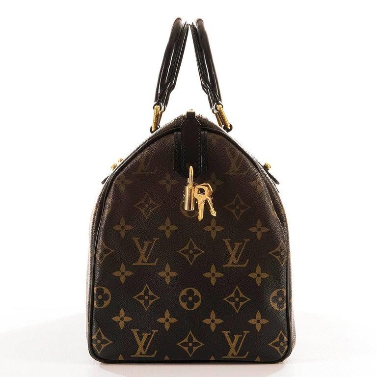 WOW Rare Limited Edition Louis Vuitton 'Sac Mirage' Speedy 30 Logo Handbag GHW 3