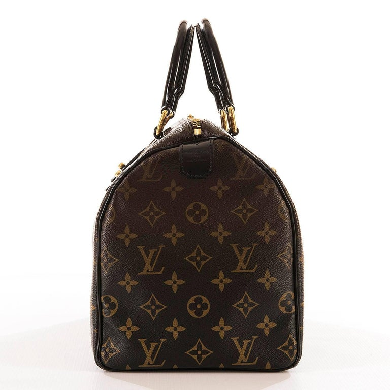 WOW Rare Limited Edition Louis Vuitton 'Sac Mirage' Speedy 30 Logo Handbag GHW 4
