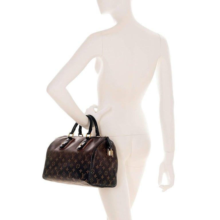 WOW Rare Limited Edition Louis Vuitton 'Sac Mirage' Speedy 30 Logo Handbag GHW 9