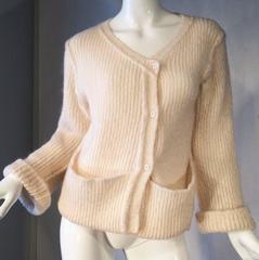 Rare Early Sonia Rykiel Knit Cardigan, 1960s