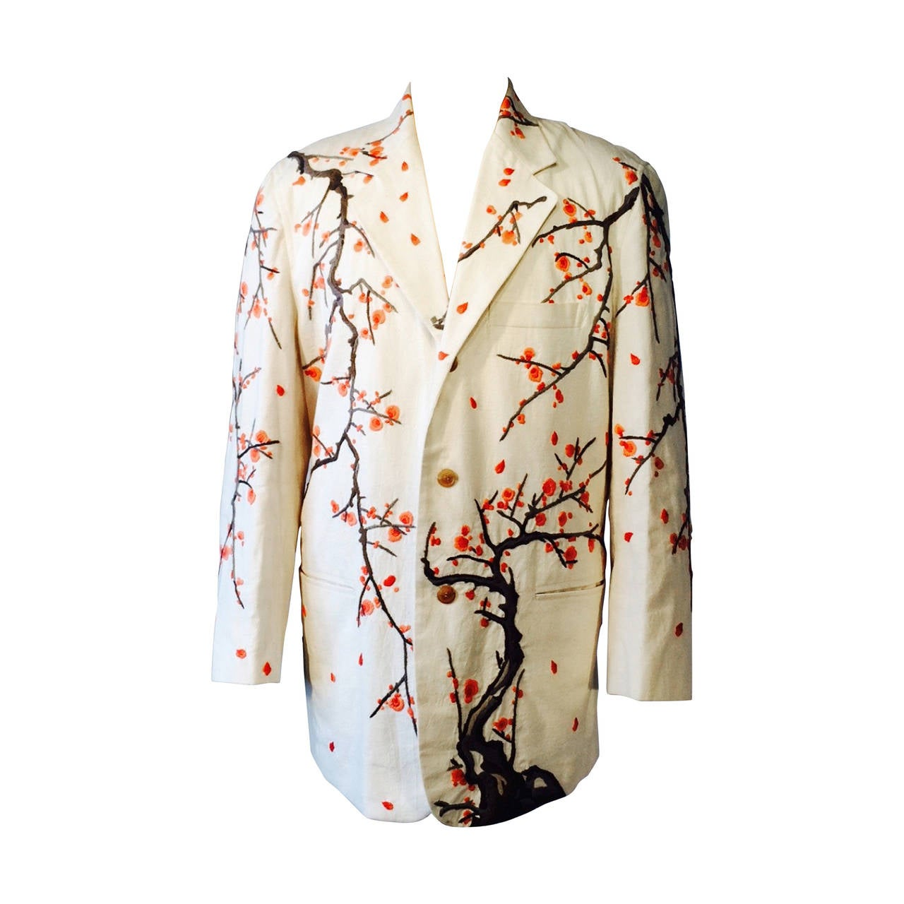 Gents issey miyake cherry blossom embroidered jacket s