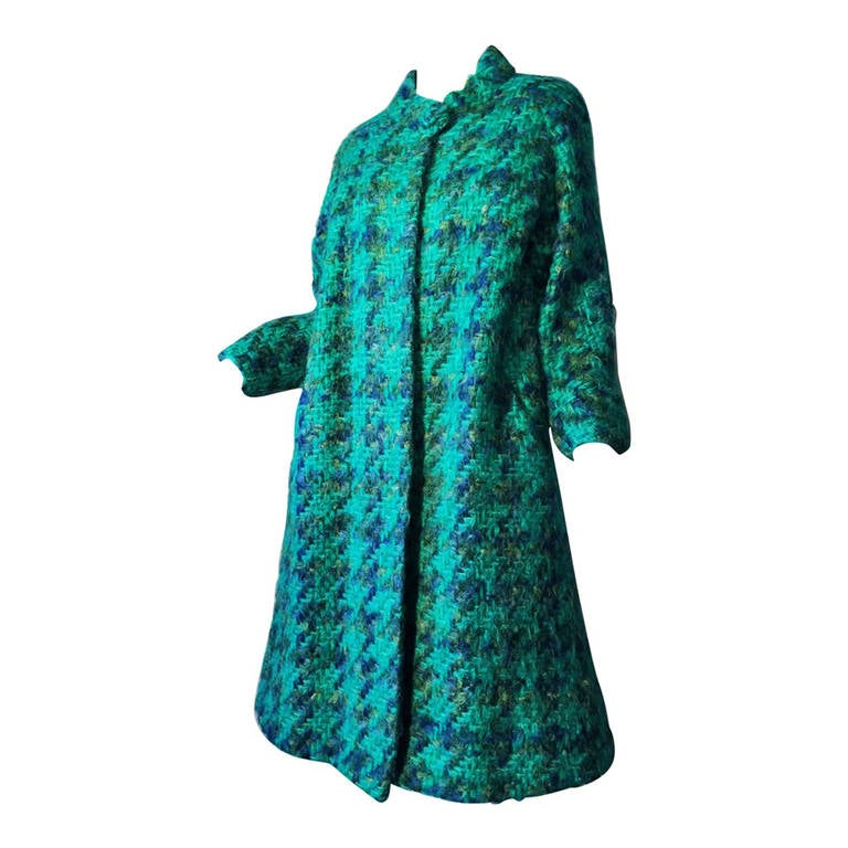 Sybil Connolly Couture Swing Coat 1950s At 1stdibs