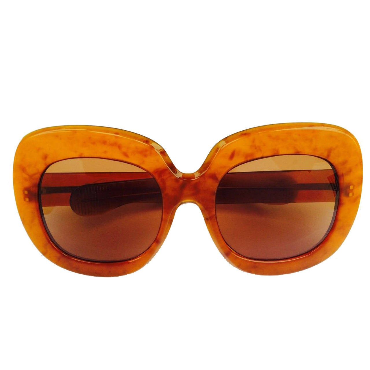 Oversize Lucite Sunglasses 1970s at 1stdibs