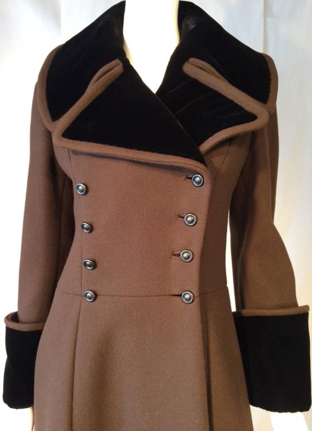 Military Style Maxi Coat 1970s For Sale At 1stdibs
