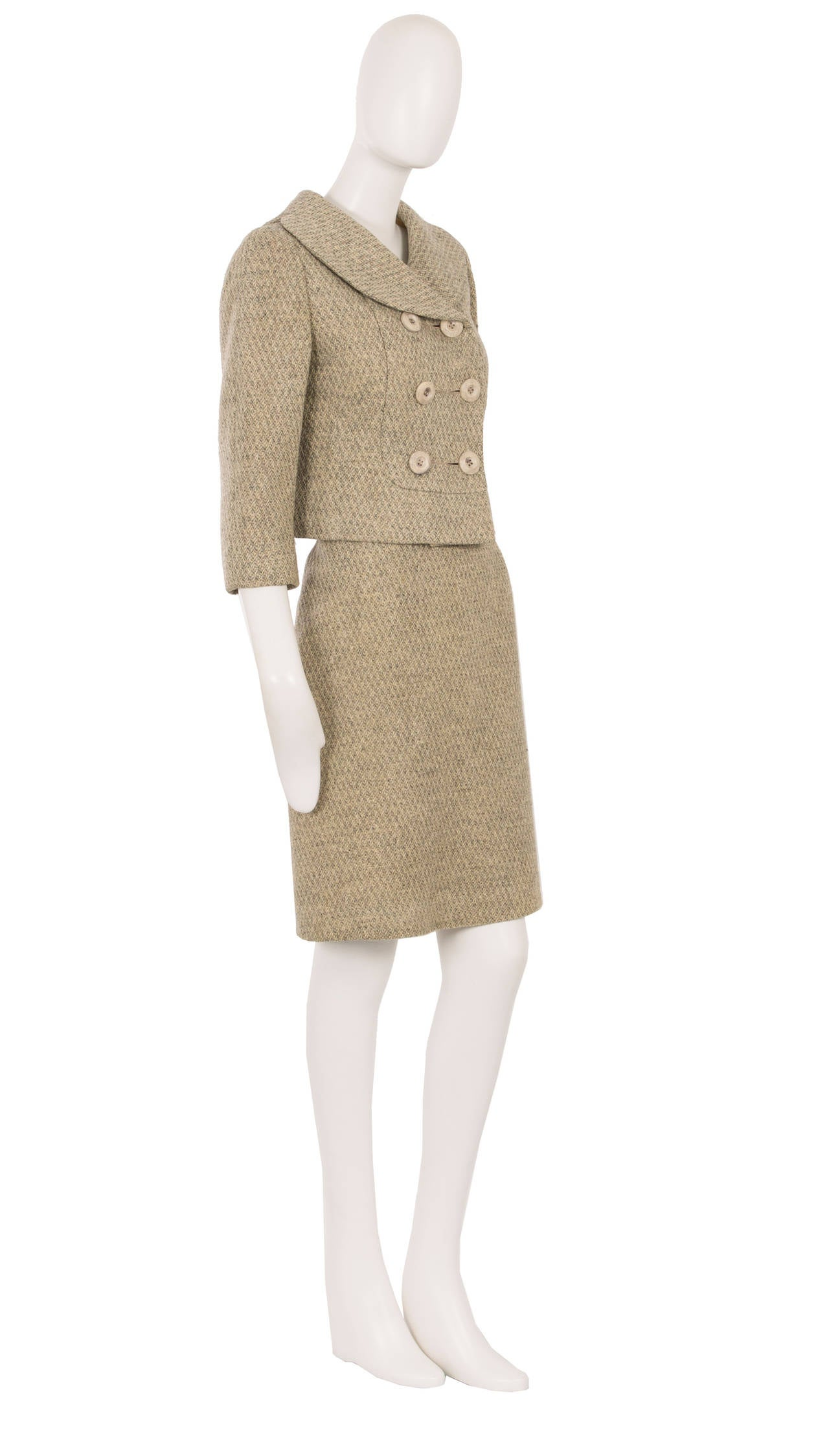 a mainbocher haute couture skirt suit circa 1960 for sale