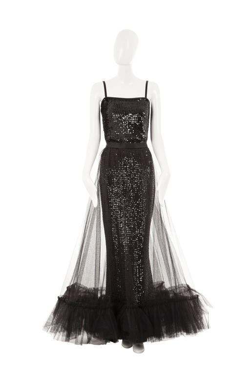Yves Saint Laurent Sequin And Tulle Gown 1981 For Sale At