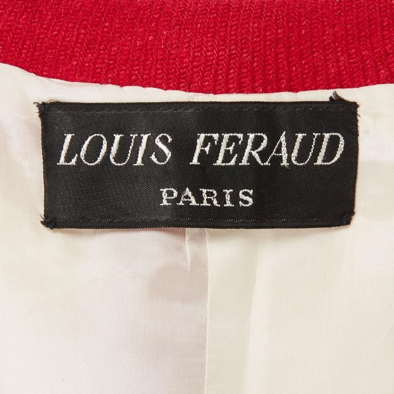 Louis Féraud haute couture red suit, circa 1965 5