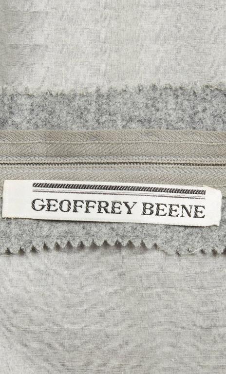 Geoffrey Beene grey dress, circa 1965 5