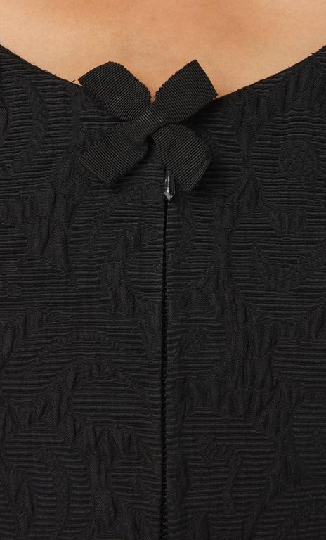 Christian Lacroix black matelassé skirt & top, Spring/Summer 1988 4
