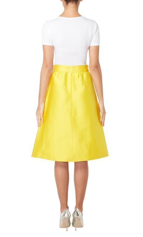 Yellow Courrèges yellow skirt, circa 1970 For Sale