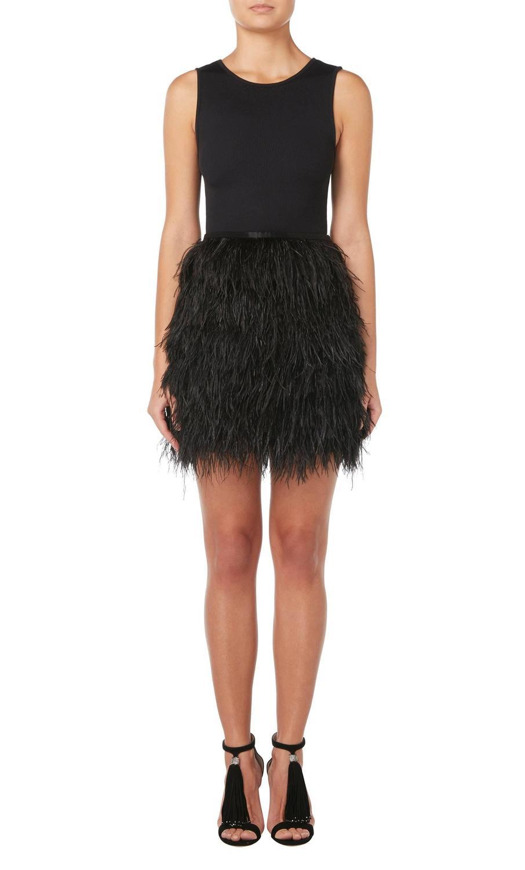 Azzaro black feather skirt, circa 1990 at 1stdibs