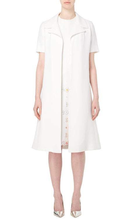 Jean Patou white dress & coat, circa 1968 2