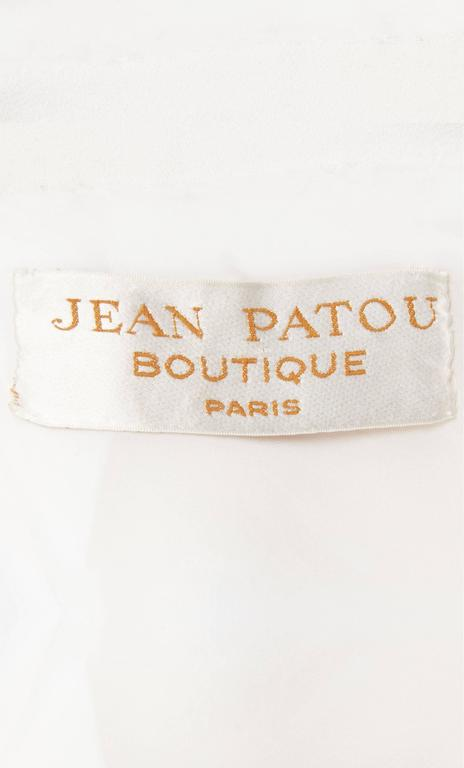 Jean Patou white dress & coat, circa 1968 7