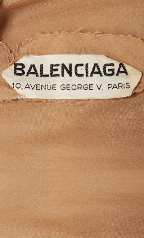 Balenciaga haute couture brown dress, Spring/Summer 1964 For Sale 1