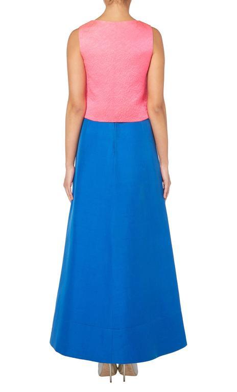 Balenciaga pink top with blue skirt, circa 1968 3