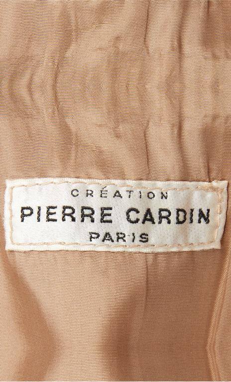 Pierre Cardin suede brown dress, circa 1968 5