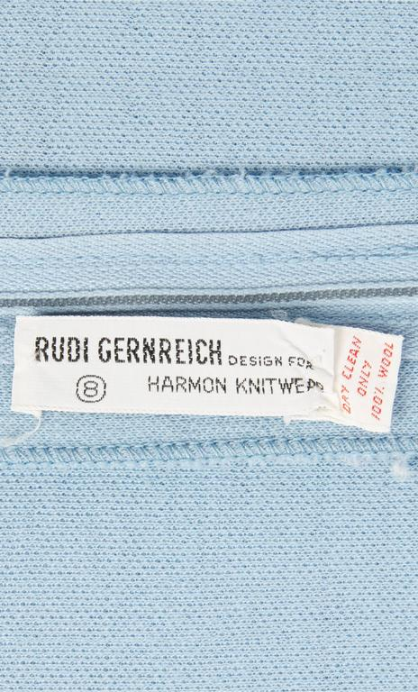 Rudi Gernreich blue dress, circa 1965 4