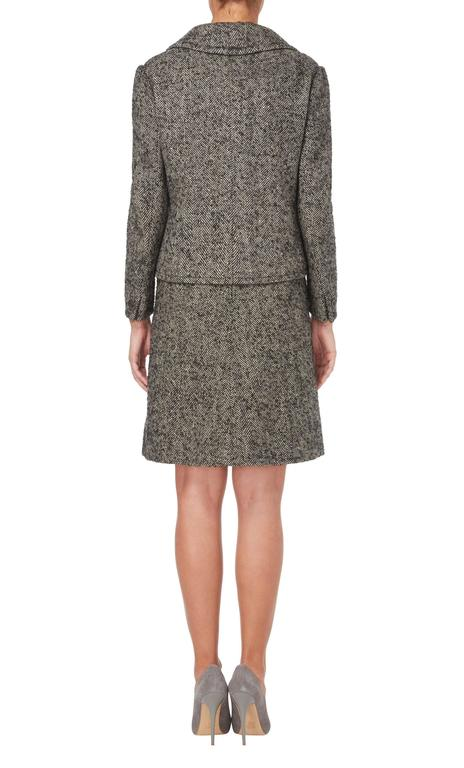 Gray Nina Ricci haute couture grey skirt suit, circa 1958 For Sale