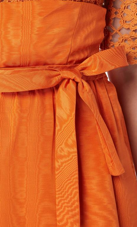 Sybil Connolly orange top and skirt, circa 1958 In Excellent Condition For Sale In London, GB
