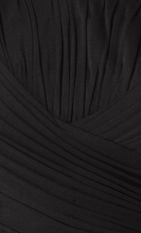 Ceil Chapman black silk jersey dress, circa 1958 In Excellent Condition For Sale In London, GB