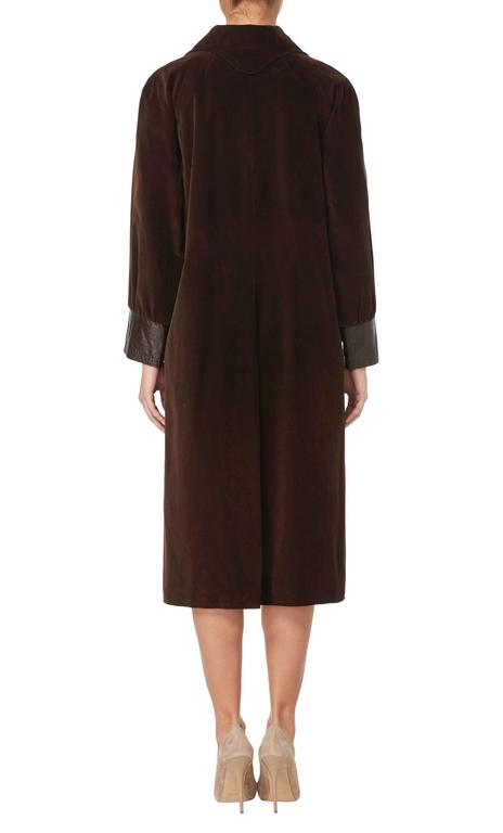 Black Pierre Cardin brown coat, circa 1970 For Sale