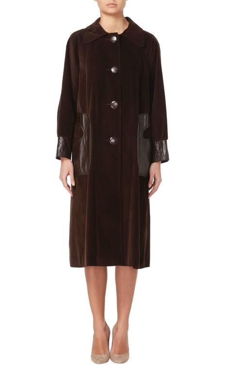 Pierre Cardin brown coat, circa 1970 2