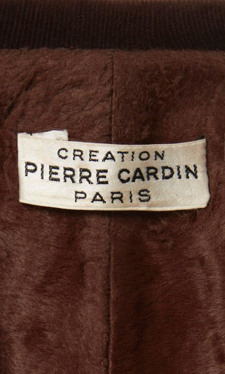 Women's Pierre Cardin brown coat, circa 1970 For Sale