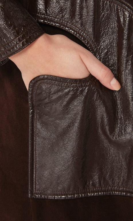 Pierre Cardin brown coat, circa 1970 4